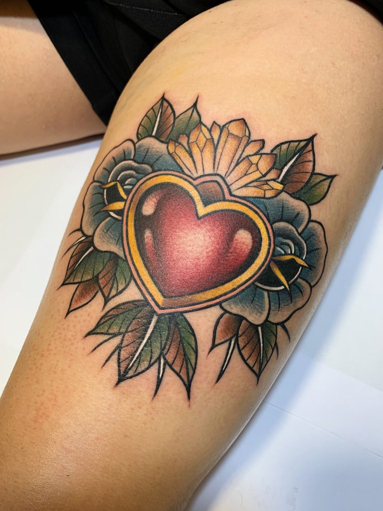 Foto de tatuagem feita por Edu Pimentel (@pimentelart)