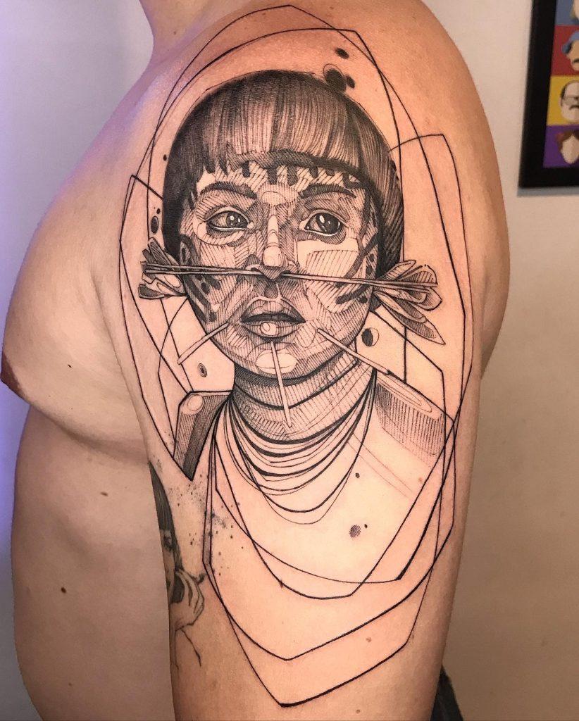 Foto de tatuagem feita por Heitor martins (@thortattoo)