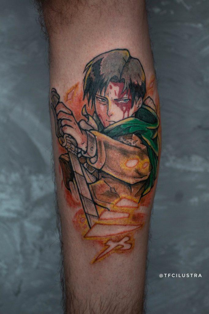 Foto de tatuagem feita por Thalisson F. Correia (@tfcilustra)