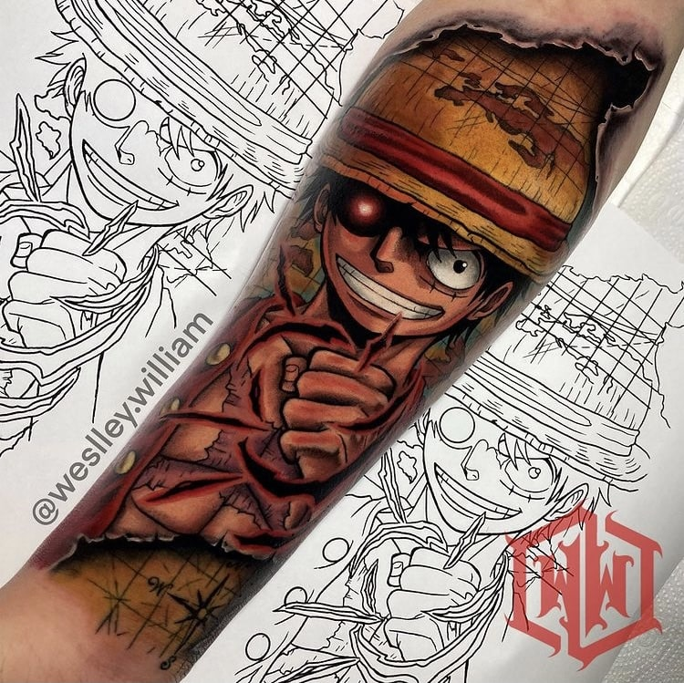 Foto de tatuagem feita por Weslley William (@weslley.william)