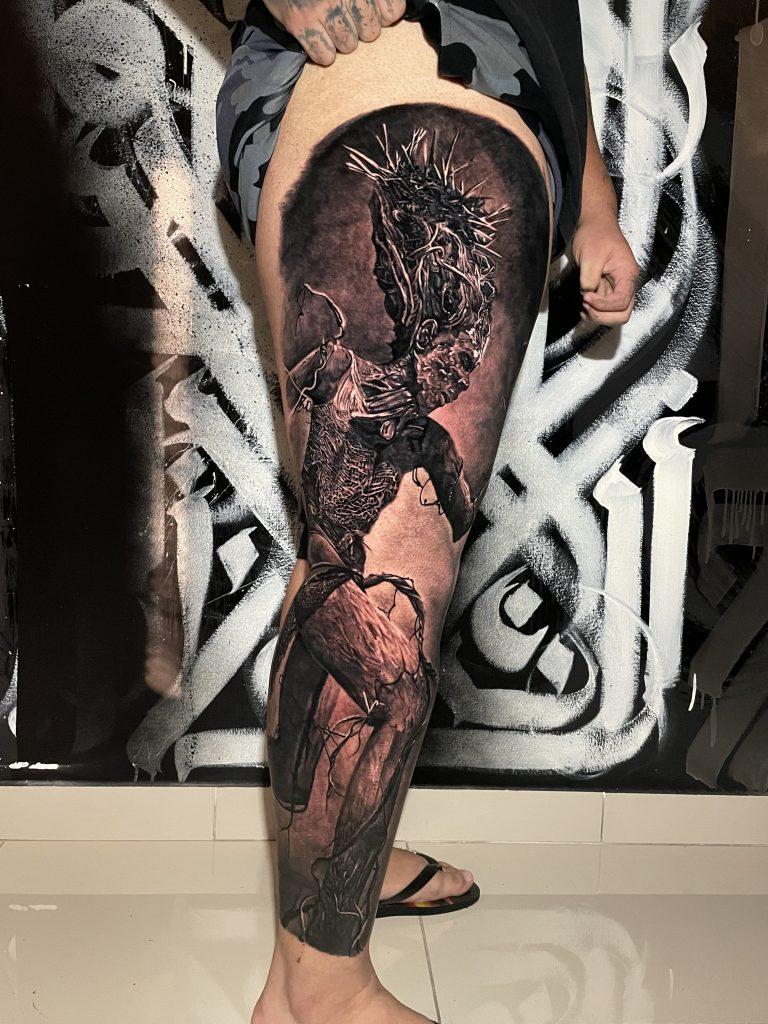 Foto de tatuagem feita por Binho Tattoo (@binhotat2)