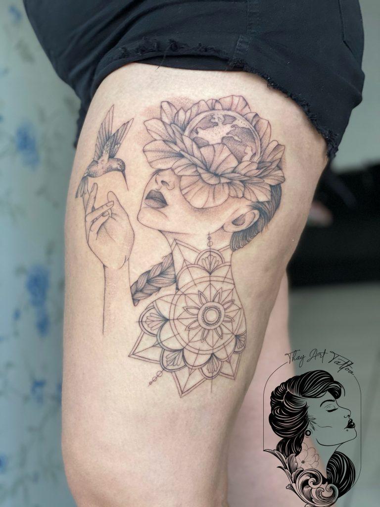 Foto de tatuagem feita por Thay (@thay_arttattoo)