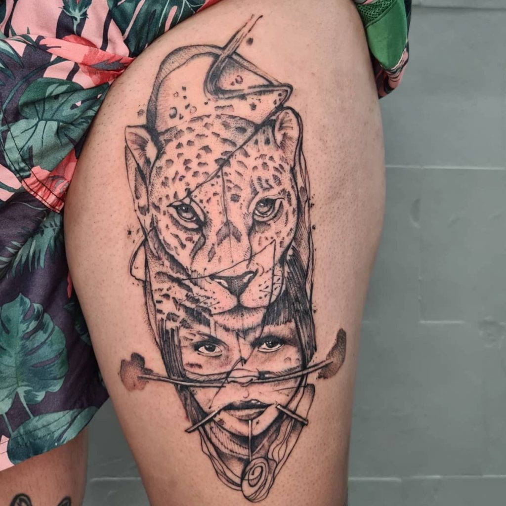 Foto de tatuagem feita por Victor Garajau (@victorgarajautattoo)