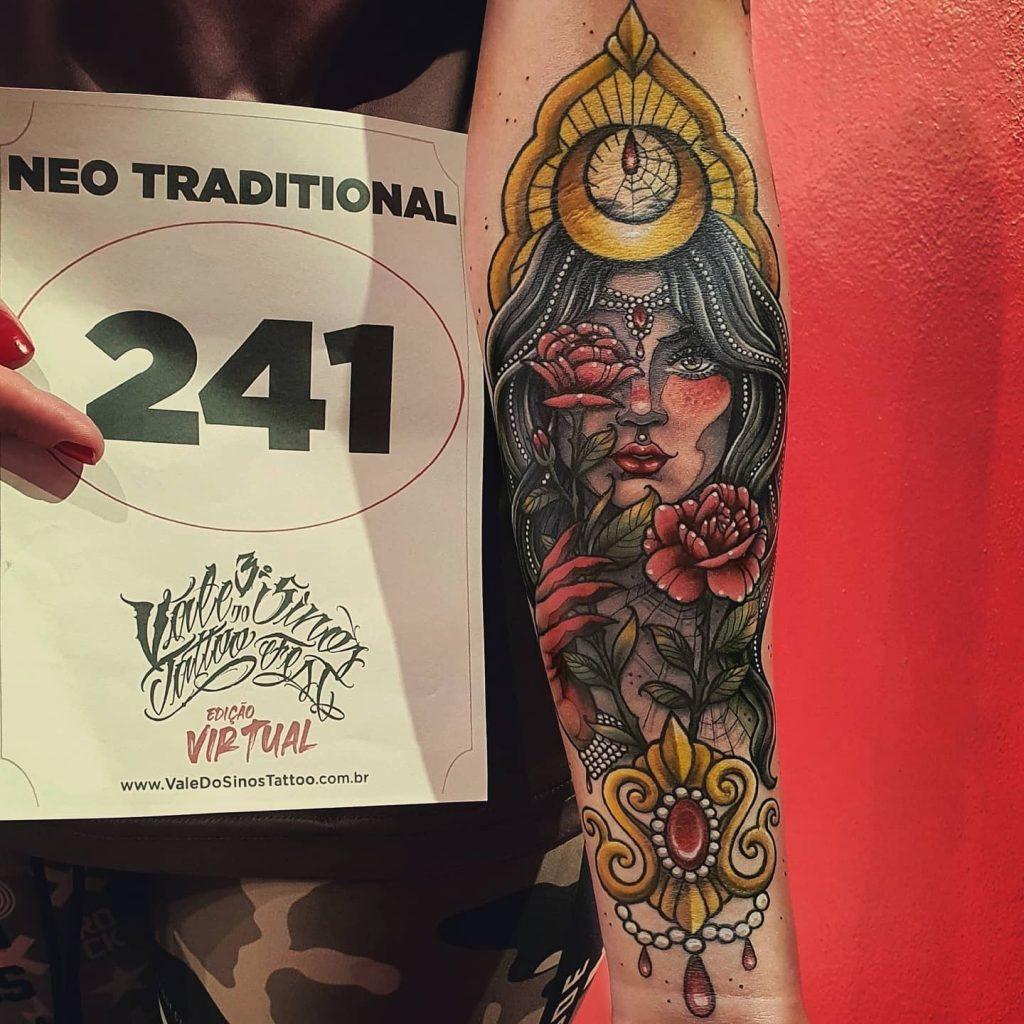 Foto de tatuagem feita por Maira Prado (@mairapradotattoo)