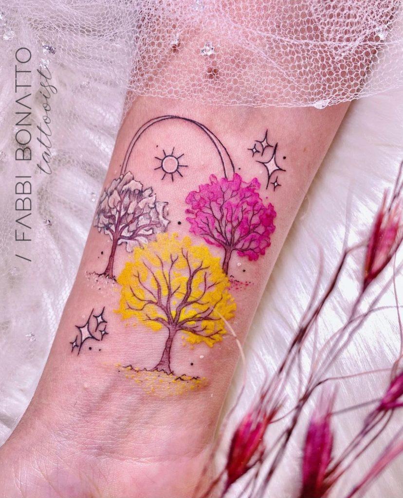 Foto de tatuagem feita por Fabricia Bonatto (@fabbibonatto)