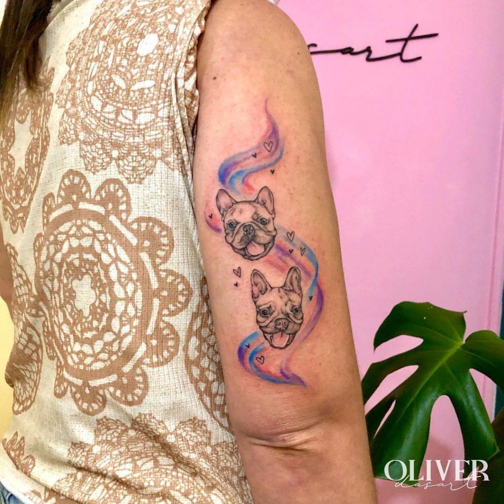 Foto de tatuagem feita por Oliver Dasart (@oliverdasart)