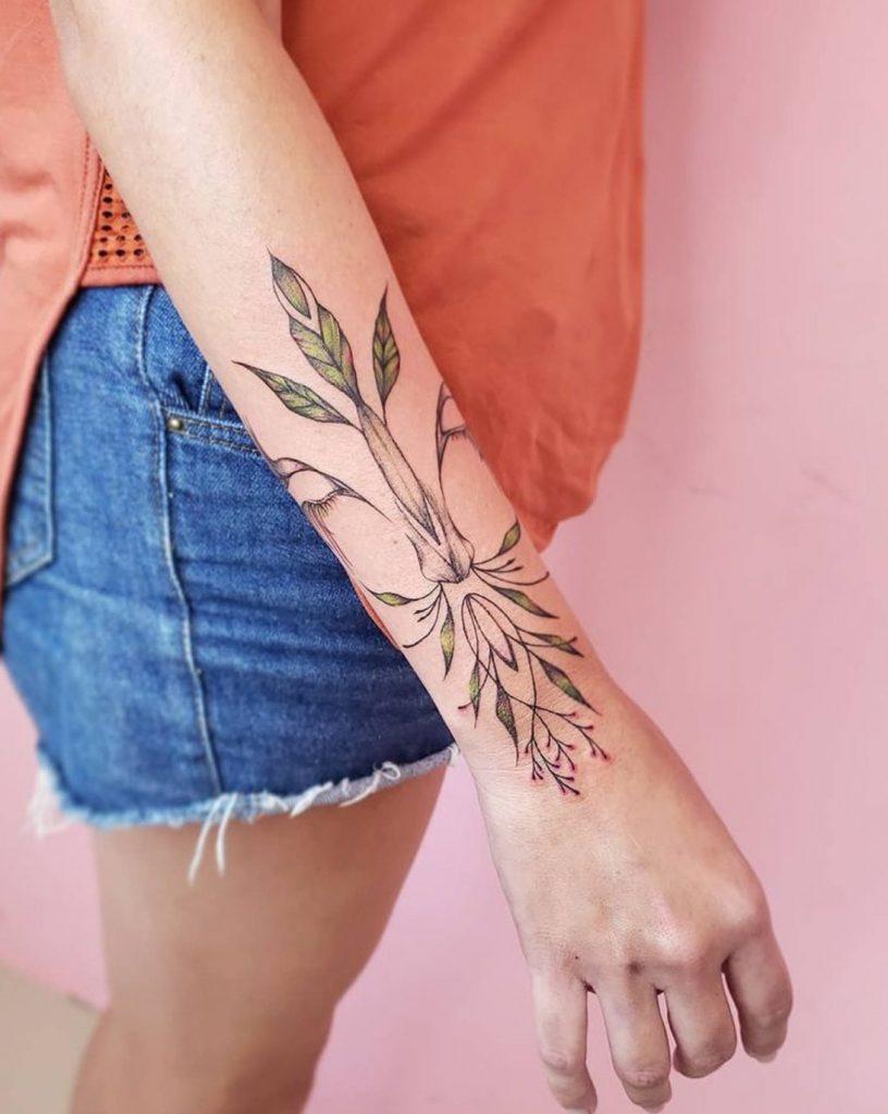 Foto de tatuagem feita por Amanda Roosevelt (@amandaroosevelt)