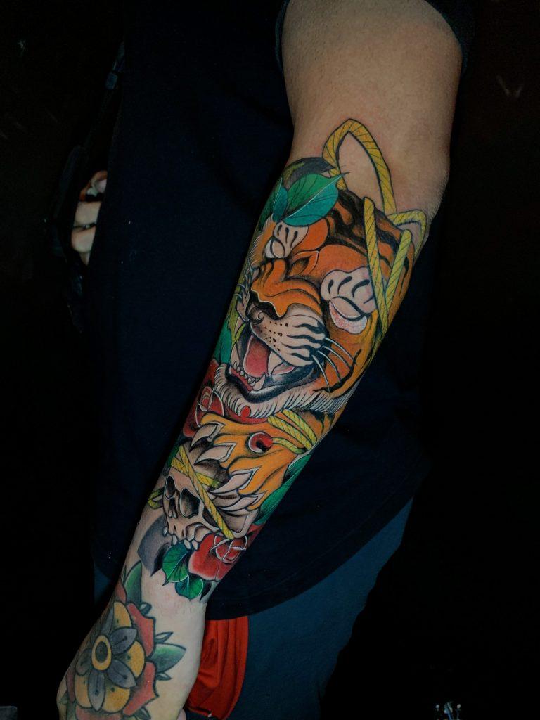 Foto de tatuagem feita por Marcelo Tavares (@marcelotavaresink)