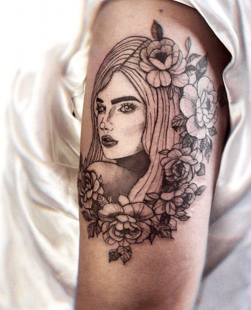 Foto de tatuagem feita por Julia Hawk (@juliahawk.ink)